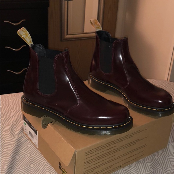Dr Martens Cherry Red Chelsea Boots